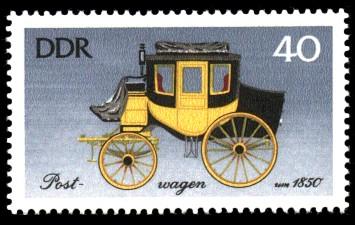 40 Pf Briefmarke: Historische Kutschen, Postwagen