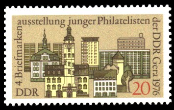 20 Pf Briefmarke: Tag der Philatelisten