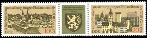 Briefmarke: Dreierstreifen - Tag der Philatelisten