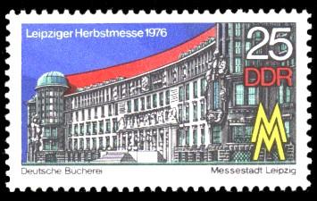 25 Pf Briefmarke: Leipziger Herbstmesse 1976, Deutsche Bücherei