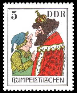 5 Pf Briefmarke: Märchen - Rumpelstilzchen