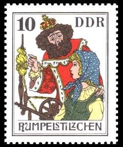 10 Pf Briefmarke: Märchen - Rumpelstilzchen