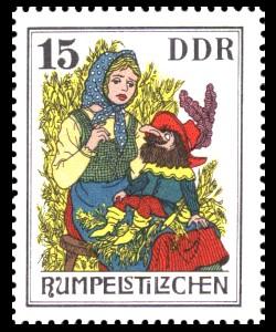 15 Pf Briefmarke: Märchen - Rumpelstilzchen