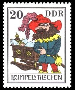 20 Pf Briefmarke: Märchen - Rumpelstilzchen