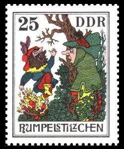 25 Pf Briefmarke: Märchen - Rumpelstilzchen