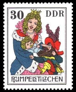 30 Pf Briefmarke: Märchen - Rumpelstilzchen