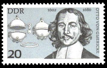 20 Pf Briefmarke: Bedeutende Persönlichkeiten, Otto von Guericke
