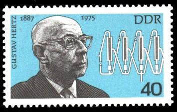 40 Pf Briefmarke: Bedeutende Persönlichkeiten, Gustav Hertz