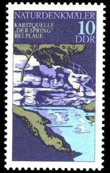 10 Pf Briefmarke: Naturdenkmäler, Der Spring