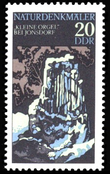20 Pf Briefmarke: Naturdenkmäler, Kleine Orgel