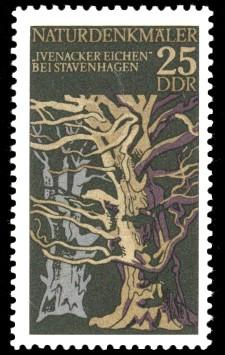25 Pf Briefmarke: Naturdenkmäler, Ivenacker Eichen