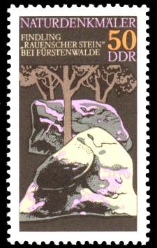 50 Pf Briefmarke: Naturdenkmäler, Rauenscher Stein