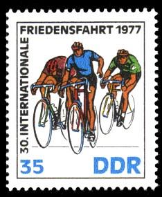 35 Pf Briefmarke: 30. Internationale Friedensfahrt 1977, Zielspurt