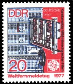 20 Pf Briefmarke: Weltfernmeldetag 1977