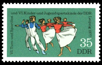 35 Pf Briefmarke: VI. Turn- und Sportfest u. Kinder- und Jugendspartakiade, Tanz