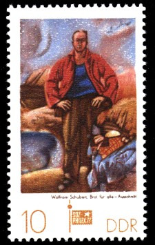 10 Pf Briefmarke: Sozphilex 77, Brot für alle