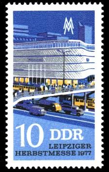 10 Pf Briefmarke: Leipziger Herbstmesse 1977, Warenhaus
