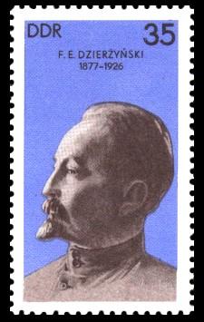 35 Pf Briefmarke: 100. Geburtstag F. E. Dzierzynski