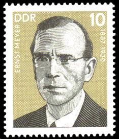 10 Pf Briefmarke: Persönlichkeiten der deutschen Arbeiterbewegung, Ernst Meyer