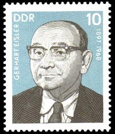 10 Pf Briefmarke: Persönlichkeiten der deutschen Arbeiterbewegung, Gerhart Eisler