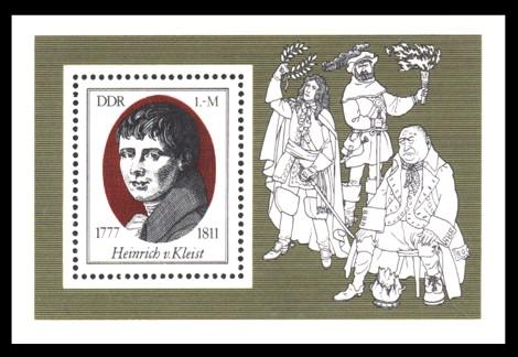 Briefmarke: Block - 200. Geburtstag Heinrich von Kleist