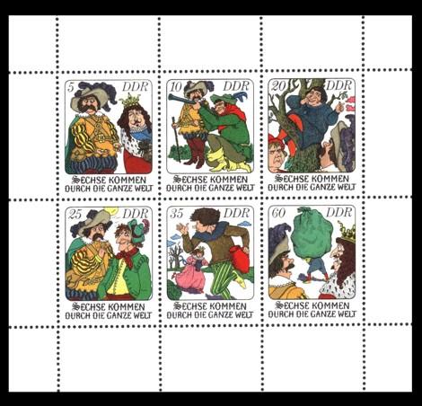 Briefmarke: Kleinbogen - Märchen - Sechse kommen durch die ganze Welt