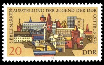 20 Pf Briefmarke: 5. Briefmarkenausstellung, Cottbus im Jahre 1978