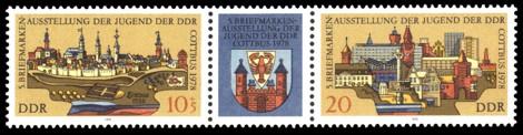 Briefmarke: Dreierstreifen - 5. Briefmarkenausstellung