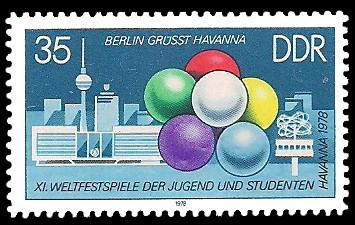 35 Pf Briefmarke: XI. Weltfestspiele der Jugend und Studenten, Berliner Bauten