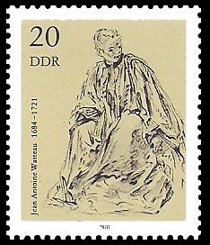 20 Pf Briefmarke: Zeichnungen aus dem Kupferstichkabinett, Briefleserin