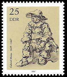 25 Pf Briefmarke: Zeichnungen aus dem Kupferstichkabinett, sitzender Knabe