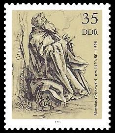 35 Pf Briefmarke: Zeichnungen aus dem Kupferstichkabinett, Heiliger Antonius