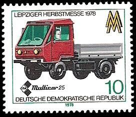 10 Pf Briefmarke: Leipziger Herbstmesse 1978, Multicar