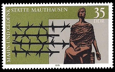 35 Pf Briefmarke: Mahn- und Gedenkstätte Mauthausen