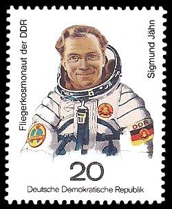 20 Pf Briefmarke: Gemeinsamer Weltraumflug UdSSR-DDR, Sigmund Jähn