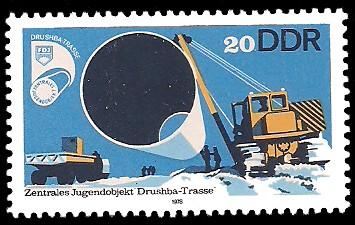 20 Pf Briefmarke: Drushba Trasse