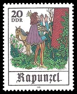 20 Pf Briefmarke: Märchen - Rapunzel