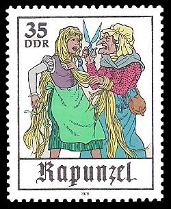 35 Pf Briefmarke: Märchen - Rapunzel