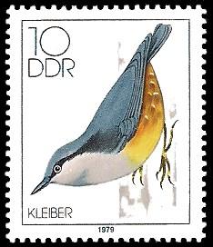 10 Pf Briefmarke: Heimische Singvögel, Kleiber