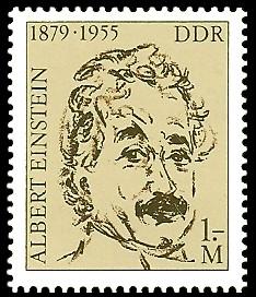 1 M Briefmarke: 100. Geburtstag Albert Einstein