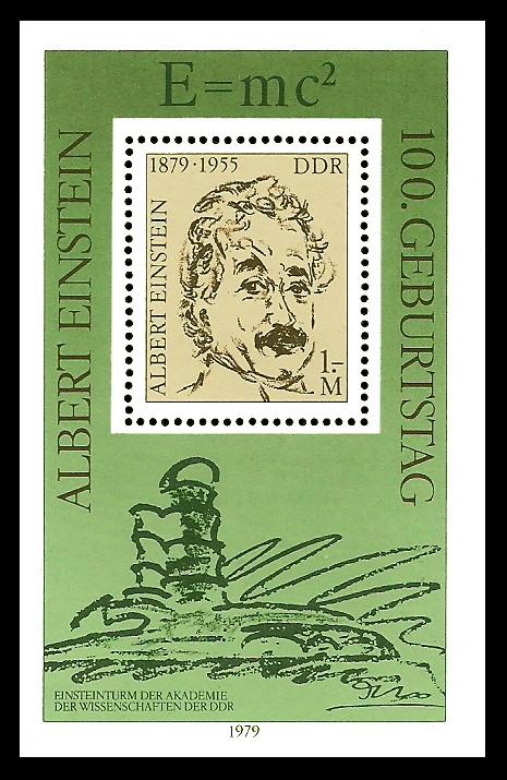 Briefmarke: Block - 100. Geburtstag Albert Einstein