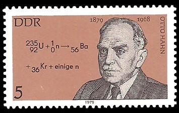 5 Pf Briefmarke: Bedeutende Persönlichkeiten, Otto Hahn