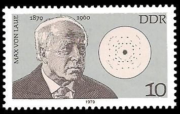 10 Pf Briefmarke: Bedeutende Persönlichkeiten, Max von Laue