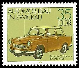 35 Pf Briefmarke: Automobilbau in Zwickau, Trabant 601 S
