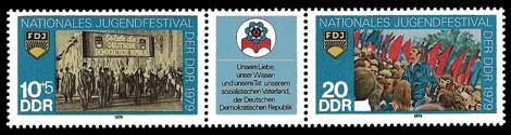 Briefmarke: Dreierstreifen - Nationales Jugendfestival der DDR