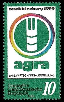 10 Pf Briefmarke: agra Landwirtschaftsausstellung, Markkleeberg 1979