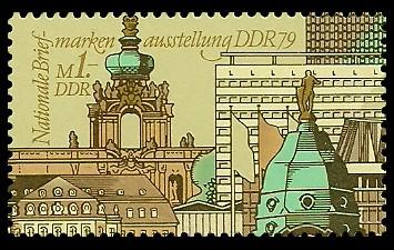 1 M Briefmarke: Nationale Briefmarkenausstellung der DDR 1979