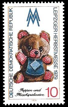 10 Pf Briefmarke: Leipziger Herbstmesse 1979, Teddy