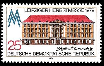 25 Pf Briefmarke: Leipziger Herbstmesse 1979, Großer Blumenberg
