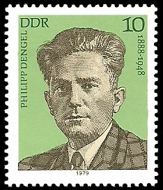 10 Pf Briefmarke: Verdienstvolle Persönlichkeiten der Arbeiterbewegung, Philipp Dengel